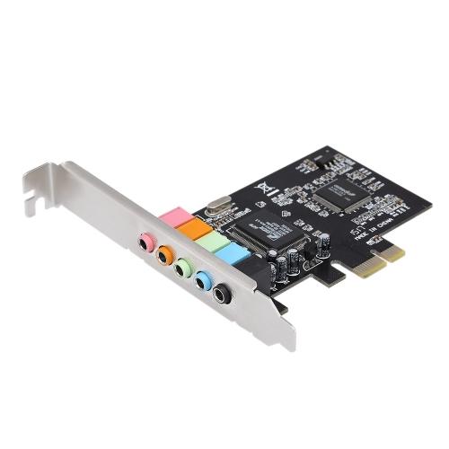 Karta PCI-E Express 5.1 Karta dźwiękowa 5-portowa Karta dźwiękowa Stereo Surround Sound Card na czarny pulpit