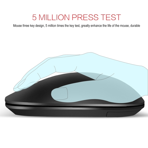 ZERODATE T20 2.4G 1600 DPI Wireless Portable Mobile Mouse 3-Button USB Optical Mouse with USB Receiver High-definition Optical Sen