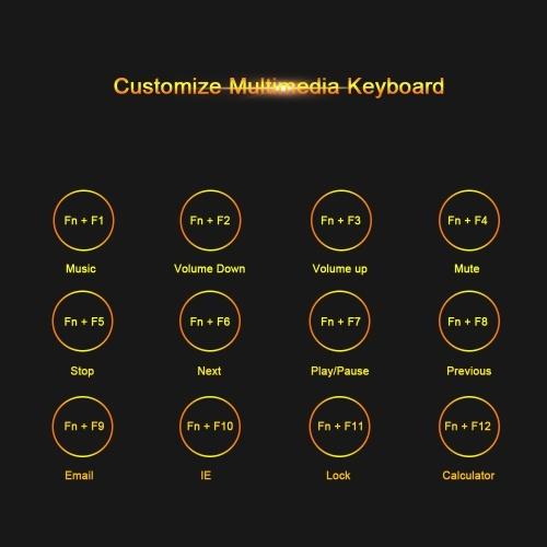 Kingangjia X500 Mechanical Gaming Keyboard Illuminated Keyboard LED Backlit UV Wrist Rest