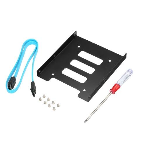 SSD 2.5インチSSD HDD 3.5インチメタルマウントアダプタブラケットドックfor PC SSD SATA 3.0ケーブル&ドライバー