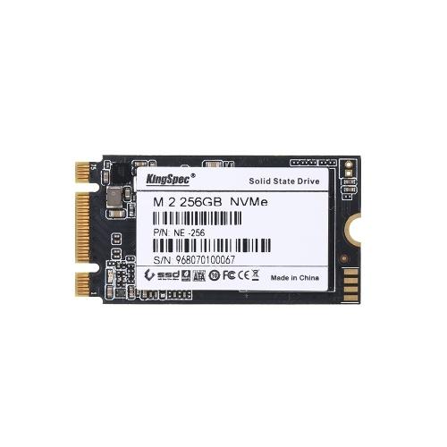 KingSpec 256 GB 2242 PCIe 3.0 NVMe M.2 3D-NAND-SSD-Solid-State-Laufwerk - internes SSD (NE-256)