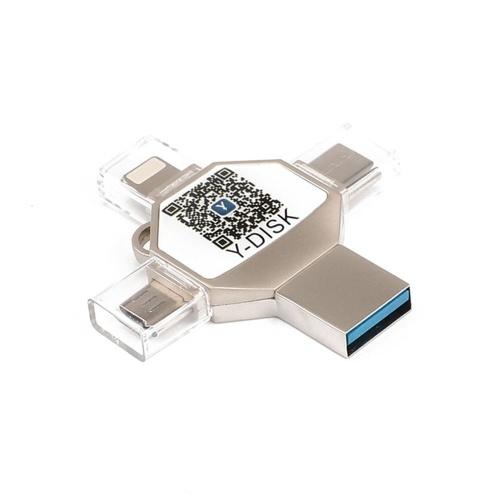 USB Flash Drive 4 in 1 Type-C/Lightning/Micro USB/USB 2.0