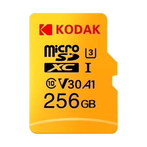 Kodak Micro SD Card 256GB TF Card U3 A1 V30 Memory Card 100MB/s Reading Speed 4K Video Record