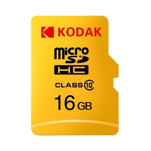 Kodak Micro SD-Karte 16 GB TF-Karte Klasse 10 C10 U1 Speicherkarte Schnelle Geschwindigkeit