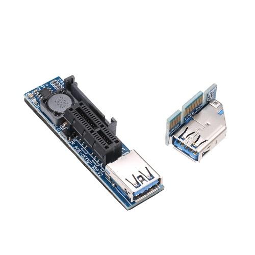 Удлинительный кабель Mini PCI-E 1X с питанием от адаптера Riser фото