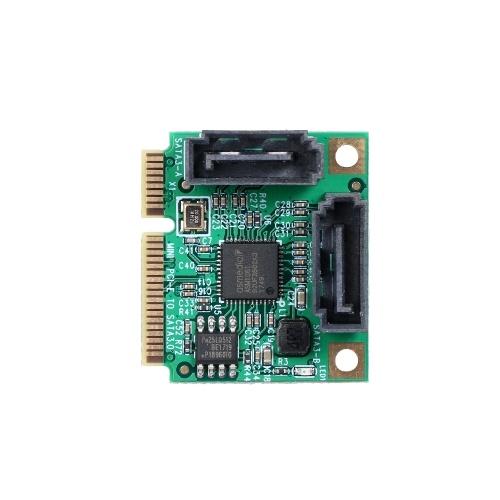 Mini PCI-E to SATA3 Expansion Card 2 Ports SATA III Express Controller Card