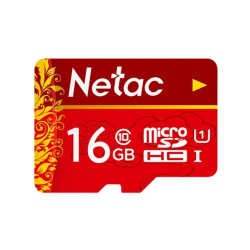 Netac TF(MicroSD)Memory Card U1 C10 Traffic Recorder Monitoring Camera Mobile Phone Storage Card 16GB