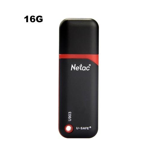 Netac U903 USB2.0 Integrierte Dateiverschlüsselungssoftware schützt die Daten-U-Festplatte 16 GB