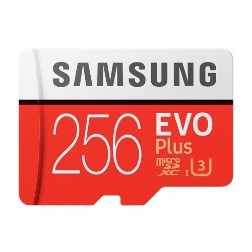 Карта памяти SAMSUNG для хранения 32 ГБ / 64 ГБ / 128 ГБ / 256 ГБ 95 МБ / с 4K Class10 Micro SD-карты Красный плюс U3 256 ГБ фото