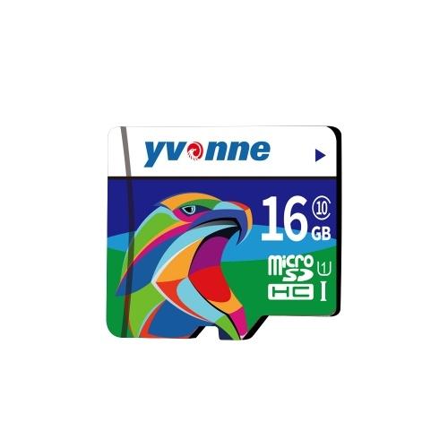 Yvonne Micro SDHC TF Флэш-память Хранение данных 16 ГБ Быстрая скорость
