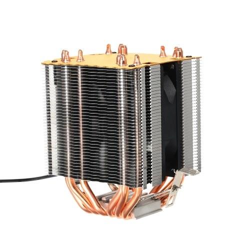 Hydraulic CPU Cooler Heatpipe Fans Quiet Heatsink Radiator for Intel Core AMD Sempron Platform with Blue Light