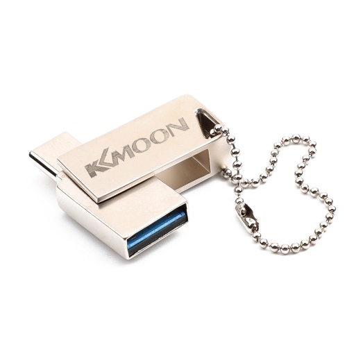 KKmoon USB Flash Drive USB3.0 Type-C Mini Portable U Disk 16GB Pendrives Pen Drive Silver for Phone PC Laptop