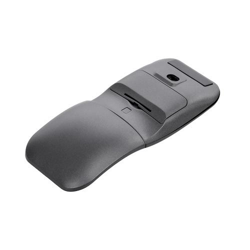Ratón portátil rotativo inalámbrico de los ratones ópticos del ratón rotatorio 2.4G con el receptor del USB para el hogar / la oficina / el viaje