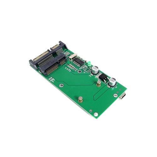 Interfaccia USB mini mSATA SSD To SATA 3.0 Adapter Converter Card
