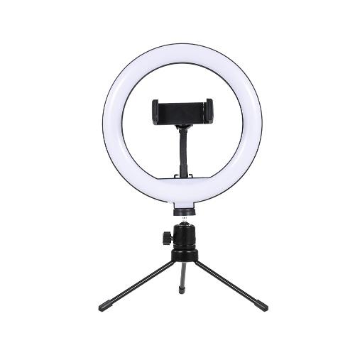 8inch LED Desktop Video Ring Light Selfie Lamp With Desktop Tripod Stand USB Plug For YouTube Tik Tok Live Streaming
