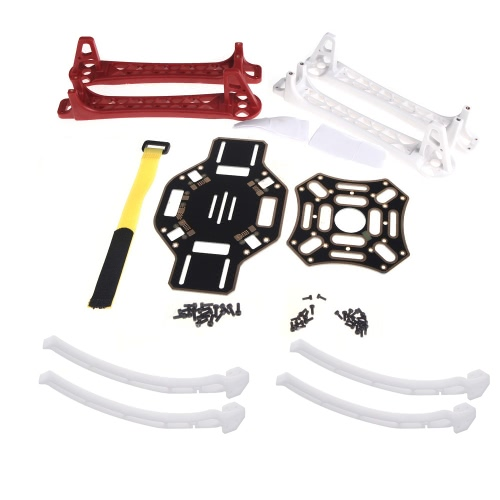 F450 Frame/Landing Gear with 2 Pairs 1045 CW CCW Propellers 200Pcs GoolRC 200mm Nylon Straps Combo for F450 RC Quadcopter