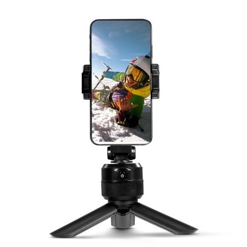 Supporto per tracciamento oggetti a 360 ° Scatto intelligente Treppiede Bastone per selfie Supporto per tracciamento oggetto viso Supporto schermo verticale orizzontale