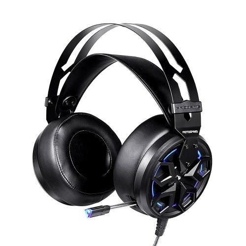 Casque de jeu filaire Motospeed H60 Casque à effet sonore virtuel 3D à 7.1 canaux avec microphone à réduction de bruit d'unité de pilote de 50 mm