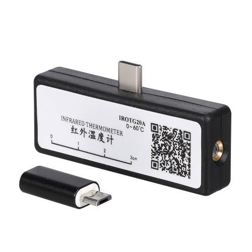 Tragbares Mobiltelefon-Infrarot-Thermometer Typ C Berührungslose IR-Thermometer-Unterstützung Körperobjekt-Temperaturmessung