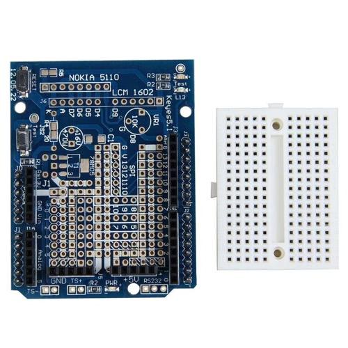Placa de expansão Protoshield com pão Mini placa para Arduino DIY