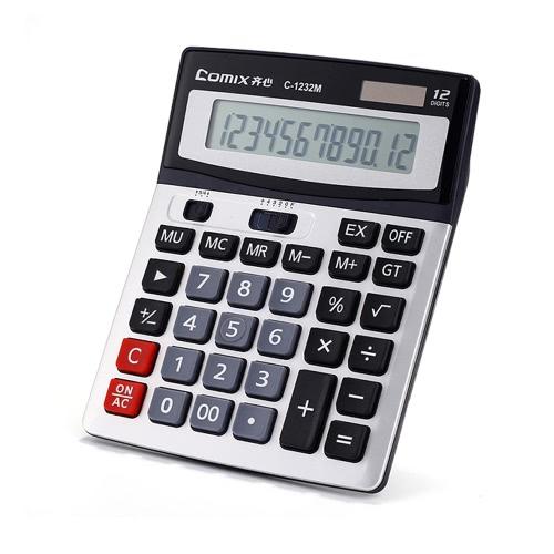 Função Comix C-1232 M padrão de desktop Calculadora 12 dígitos solar e bateria Dual Power para a escola Home Office