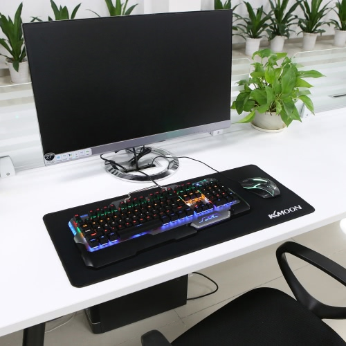 Kkmoon 700*300*3mm Large Size Plain Black Extended Water-resistant Anti-slip Rubber Speed Gaming Game Mouse Mice Pad Desk Mat