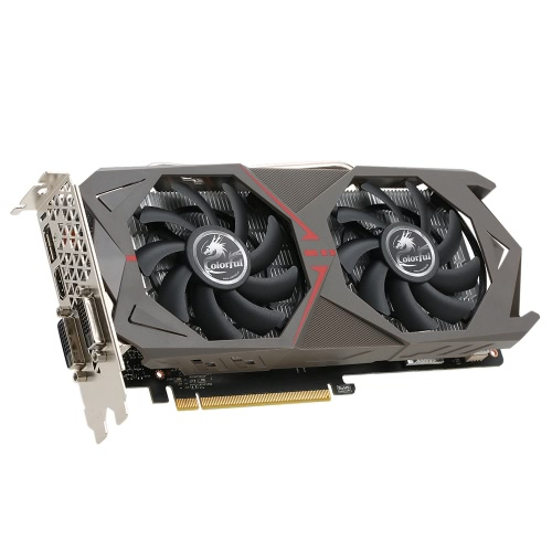 Colorful NVIDIA GeForce GTX 1060 GPU 6GB 192bit Esport Gaming GDDR5 6144M  PCI-E X16 3 0 VR Ready Video Graphics Card DVI+HDMI+3*DP Port with Two
