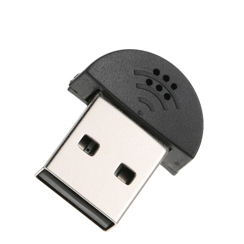 USB 2.0 Mini Microphone Mic Audio Adapter Driver Free for Laptop Desktop PC - Skype / MSN / VOIP / Voice Recognition Software