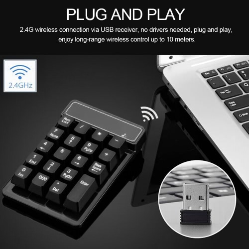 2.4Ghz Wireless Numeric Keypad Mechanical Feel Number Pad Keyboard