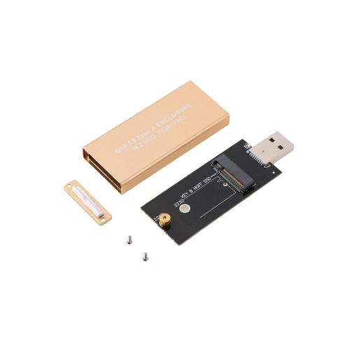 USB 3.0 zu M.2 SSD Gehäuse Aufbewahrungskoffer für NGFF B Schlüssel Festplatte B + M Schlüssel M2 SATA SSD Externer Box Adapter