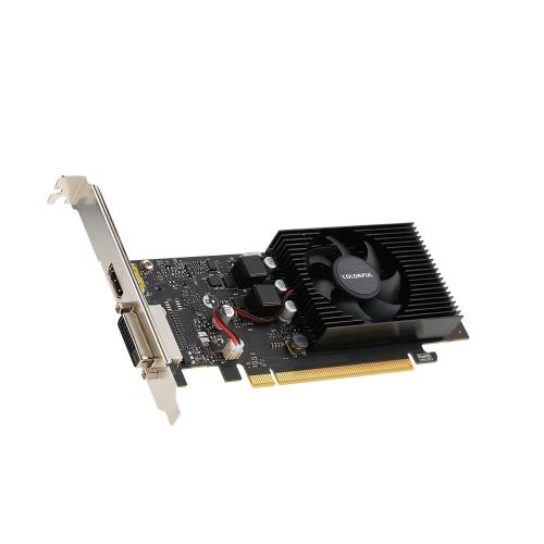 Kolorowy LP GT1030-2G 2 GB 64-bitowy GDDR5 PCI-E X4 3,0 Karta graficzna 1468MHz / 6000MHz Karta graficzna DVI + HDMI
