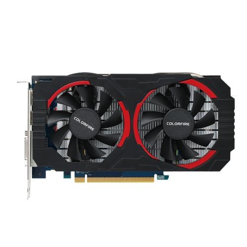Colorfire Radeon RX560D Placa de Vídeo Gráfica 6000MHz 4G GDDR5 128bit PCI-E 3.0 DirectX 12 com HDMI DP Porta DVI-D