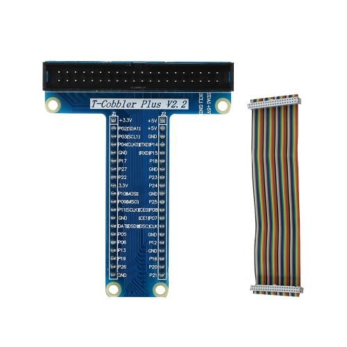 Placa de expansão GPIO em forma de T para Raspberry Pi 3 Modelo B +