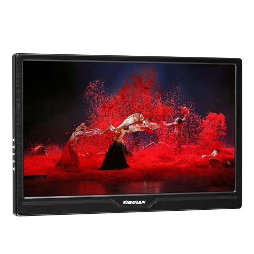 SIBOLAN S7 13.3 polegadas Monitor portátil Professional HD Gaming Monitor Ultra Slim 1920x1080Res 300cd / m2 Brilho para PC Xbox360 Preto