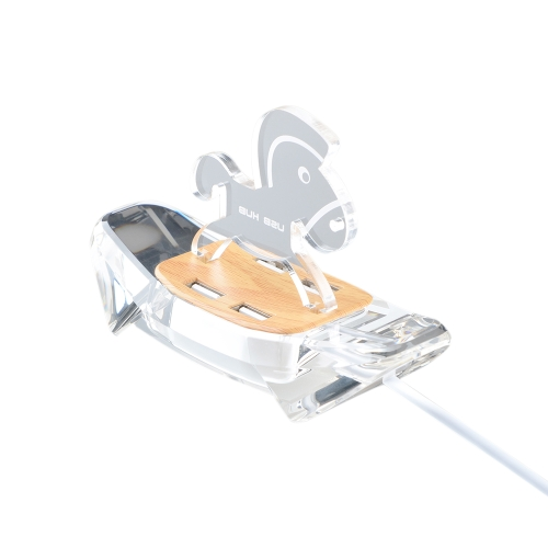 Multiport USB Hub 4-portowy High Speed USB 2.0 Hub Splitter z Cool Backlit LED Light Plug and Play