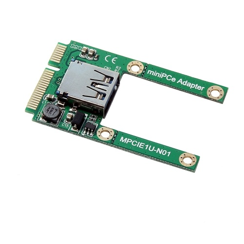 Mini PCI-E to USB2.0 Adapter Card PCI Express Card Support Full and Half Height Size