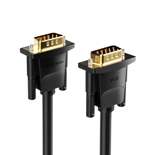 VENTION VGA-Verlängerungskabel VGA-Stecker / Stecker-HD-Adapterkabel Unterstützung 1080P Full HD für Laptop-PC-Projektor HDTV-Display und weitere VGA-fähige Geräte 10m / 32.81ft Schwarz