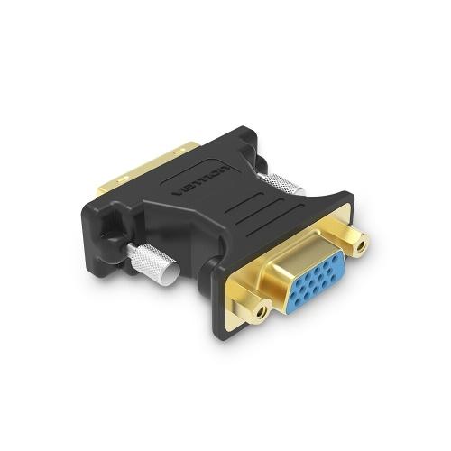 VENÇÃO DVI para VGA Adaptador DVI 24 + 5 Macho para VGA Feminino Conversor 1080 P HD Adaptador Banhado A Ouro para PC Displayer Projetor