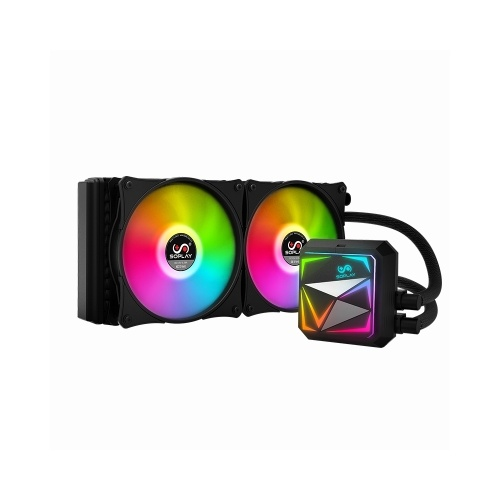 SOPLAY Water Cooling Cooler Fans CPU Radiator RGB Silent Pure Copper 240mm Radiator