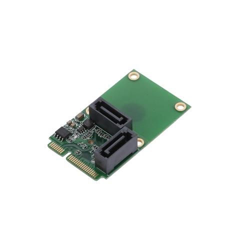 Mini PCI-E para SATA3 Cartão de Expansão SATA3.0 Cartão Mini PCIE Adaptador de Disco Rígido Cartão de 2 Portas