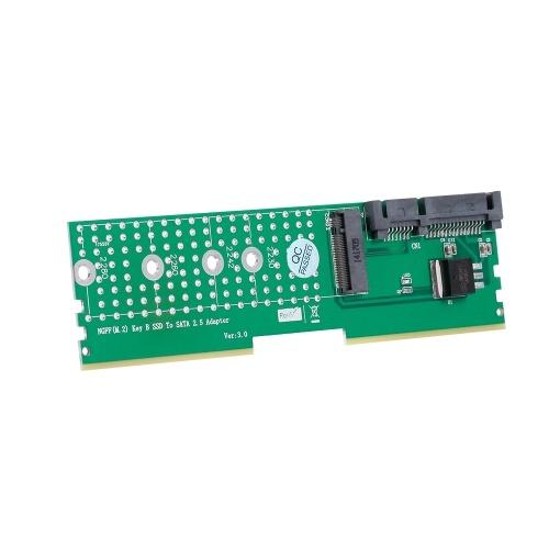M.2 NGFF B-Key SSD zu SATA Adapter DDR Speichersteckplatz Erweiterungskarte Raiser Riser Card Support 2230 2242 2260 2280 M2 SSD