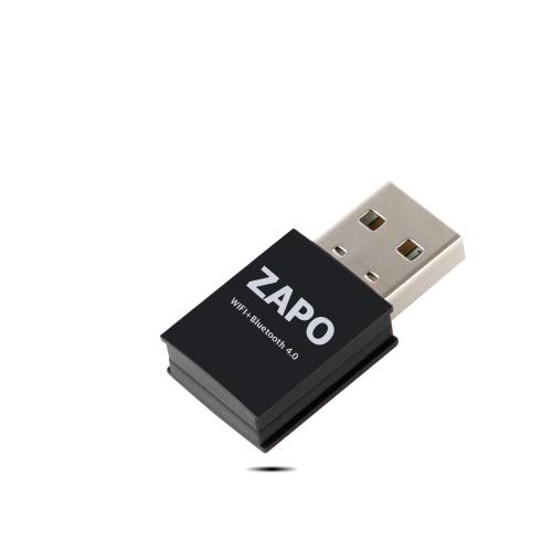 ZAPO W87 RTL8723 Беспроводная сетевая карта Портативный USB-адаптер WiFi-адаптер BT4.0 Приемник Встроенная высокопроизводительная антенна