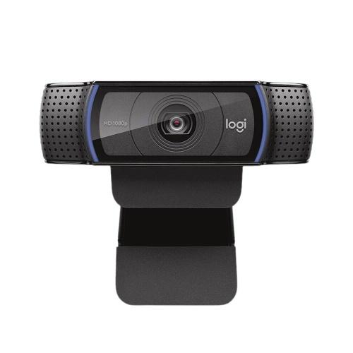 Веб-камера Logitech HD Pro C920 1080P 30fps Камера широкоэкранный Видеозвонки и запись Веб-камера настольного компьютера или ноутбука Веб-камера с автофокусом Стеклянный объектив
