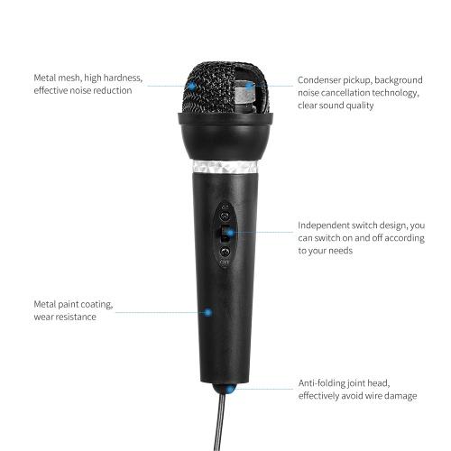 Multifunktions-Desktop-Mikrofon Omnidirektionales Kondensatormikrofon Desktop-Laptop-Mikrofon für das Treffen von Voice-Chat-Karaoke