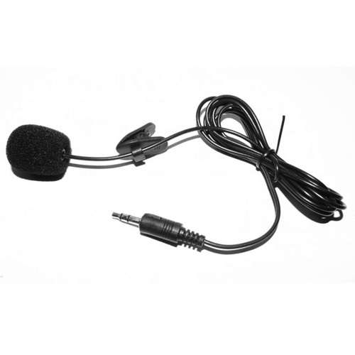 External Clip-on Lapel Microphone 3.5mm Jack Highly Sensitive Phone MIC Handsfree   Wired Condenser Mic for Teaching Speeching Black