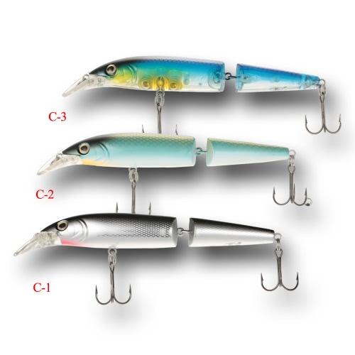 """3pcs 15cm / 5.9 """"pesca de los piscardos del ABS 3D que flota señuelos Ganchos del cebo"""