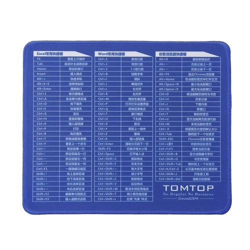 Office Mouse Pad Keyboard Shortcuts Mouse Pad Computer Office Waterproof Non-slip Desk Pad