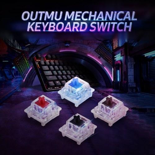 General Mechanical Keyboard Shaft Switch Replaceable Mechanical Keyboard Switch OUTMU Mechanical Black Switch 68PCS