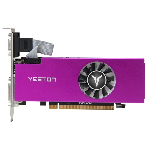 Yeston RX560-4G D5 LP-Grafikkarte Gaming-Grafikkarte 1200 / 6000MHz 4G / 128bit / GDDR5-Speicher VGA + HDMI + DVI-D-Ausgangsanschlüsse