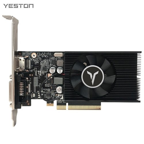 Yeston GT1030-4G D4 LP Gaming Graphic Card 4G/64bit/DDR4 Memory 1152-1380MHz/2100MHz Frequency HD+DVI-D Output Ports